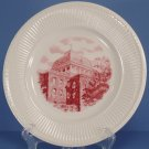Wedgwood Trinity College Pink Dinner Plate (The Red Roof)