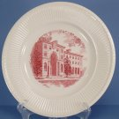 Wedgwood Trinity College Pink Dinner Plate (Alumnae Hall)