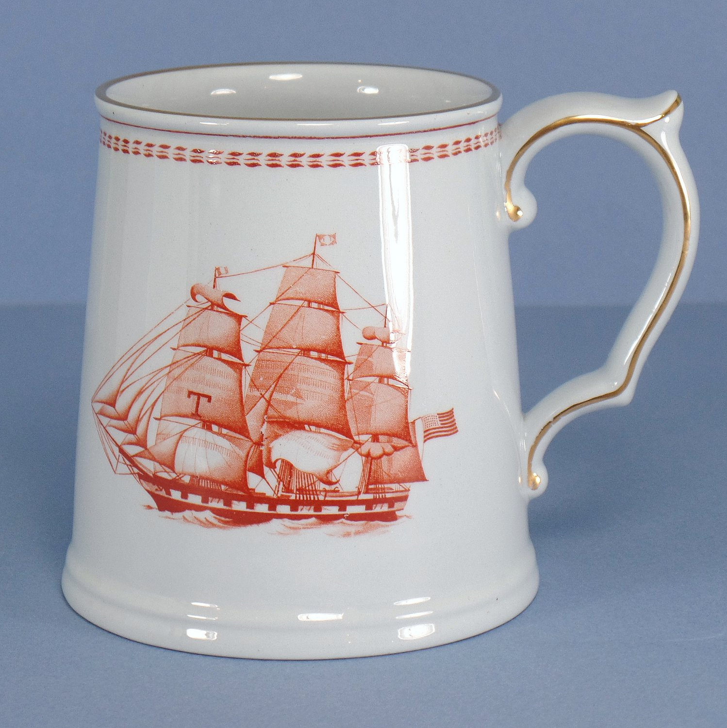 Spode Trade Winds Red Tankard 14 oz
