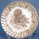 Queen's Thanksgiving Brown Dinner Plate