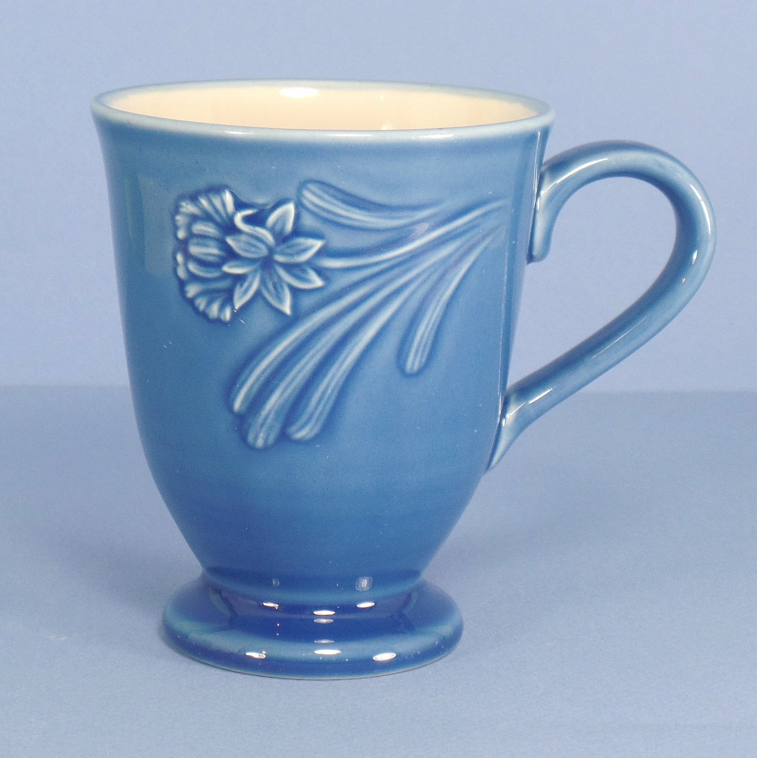 Lenox Poppies Rainbow Blue Mug