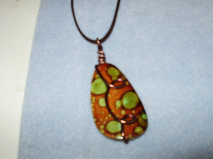brown acrylic pendant