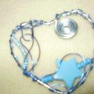 blue aluminum necklace
