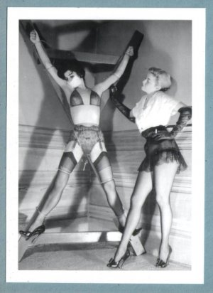 HOT SEXY BLONDE & PAL NEW REPRINT JOHN WILLIE PHOTO  5 X 7  W9