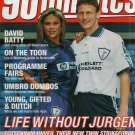 90 MINUTES FOOTBALL MAGAZINE SAMANTHA FOX NICK BARMBY  COVER  JUNE 24TH 1995