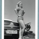 VIRGINIA BELL BUSTY SWEATER GIRL BY '57 T-BIRD CAR NEW REPRINT 5X7 VB-31