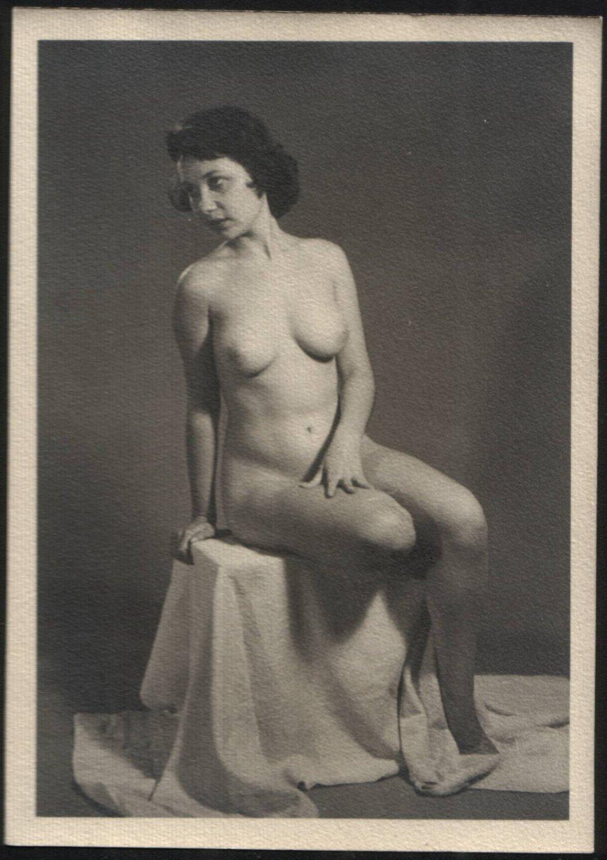 amateur nude figure model rose marie martinello vintage orig. don