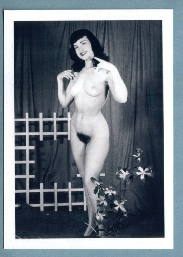 BETTY PAGE TOPLESS NUDE BREASTS HAIRY PUSSY NEW REPRINT 5X7  #61