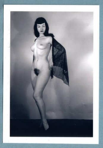 BETTY PAGE TOPLESS NUDE BREASTS HAIRY PUSSY NEW REPRINT 5X7  #51