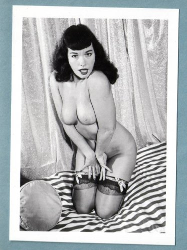 BETTY PAGE TOPLESS NUDE BREASTS NEW REPRINT 5X7  #230