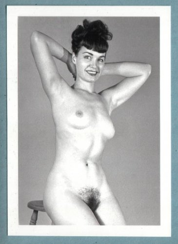 BETTY PAGE TOPLESS NUDE BREASTS HAIRY PUSSY NEW REPRINT 5X7  #386