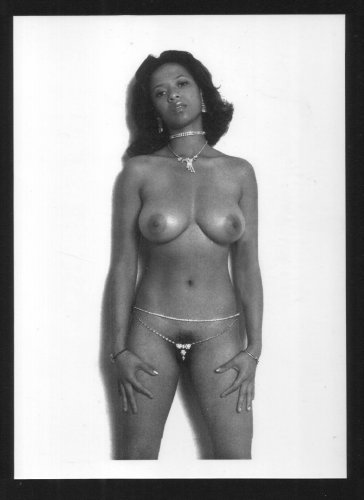 EBONY DESIREE WEST TOPLESS NUDE BREASTS HAIRY PUSSY NEW REPRINT 5X7 #1