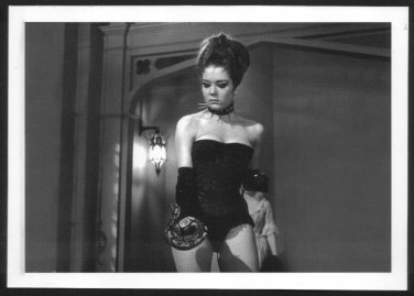 DIANA RIGG SEXY COOL IN BLACK BUSTIER LEATHER BOOTS NEW REPRINT  5X7 #2