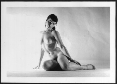 BETTY PAGE TOPLESS NUDE BREASTS HAIRY PUSSY NEW REPRINT 5X7  #632