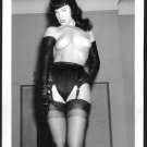 BETTY PAGE TOPLESS NUDE BREASTS HAIRY PUSSY NEW REPRINT 5X7  #614
