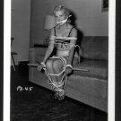 BLONDE FETISH BONDAGE MODEL VINTAGE ORIGINAL IRVING KLAW PHOTO 4X5 #PA-45