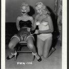 2 BLONDE FETISH BONDAGE MODELS VINTAGE ORIGINAL IRVING KLAW PHOTO 4X5 #PEN-116