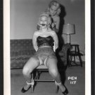 2 BLONDE FETISH BONDAGE MODELS VINTAGE ORIGINAL IRVING KLAW PHOTO 4X5 #PEN-117
