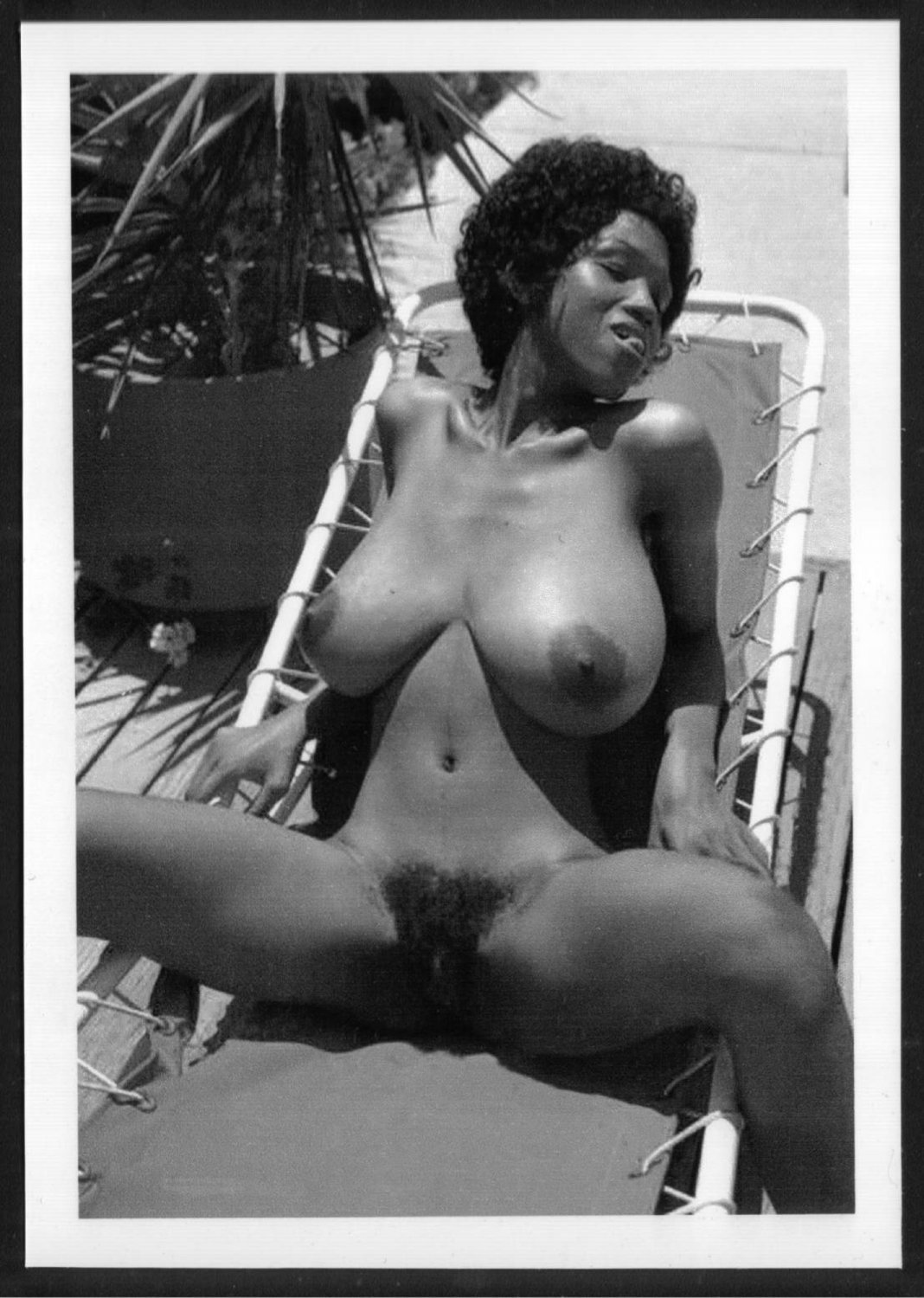 EBONY SYLVIA MCFARLAND TOPLESS NUDE HUGE BREASTS HAIRY PUSSY NEW REPRINT 5X7 SM-118