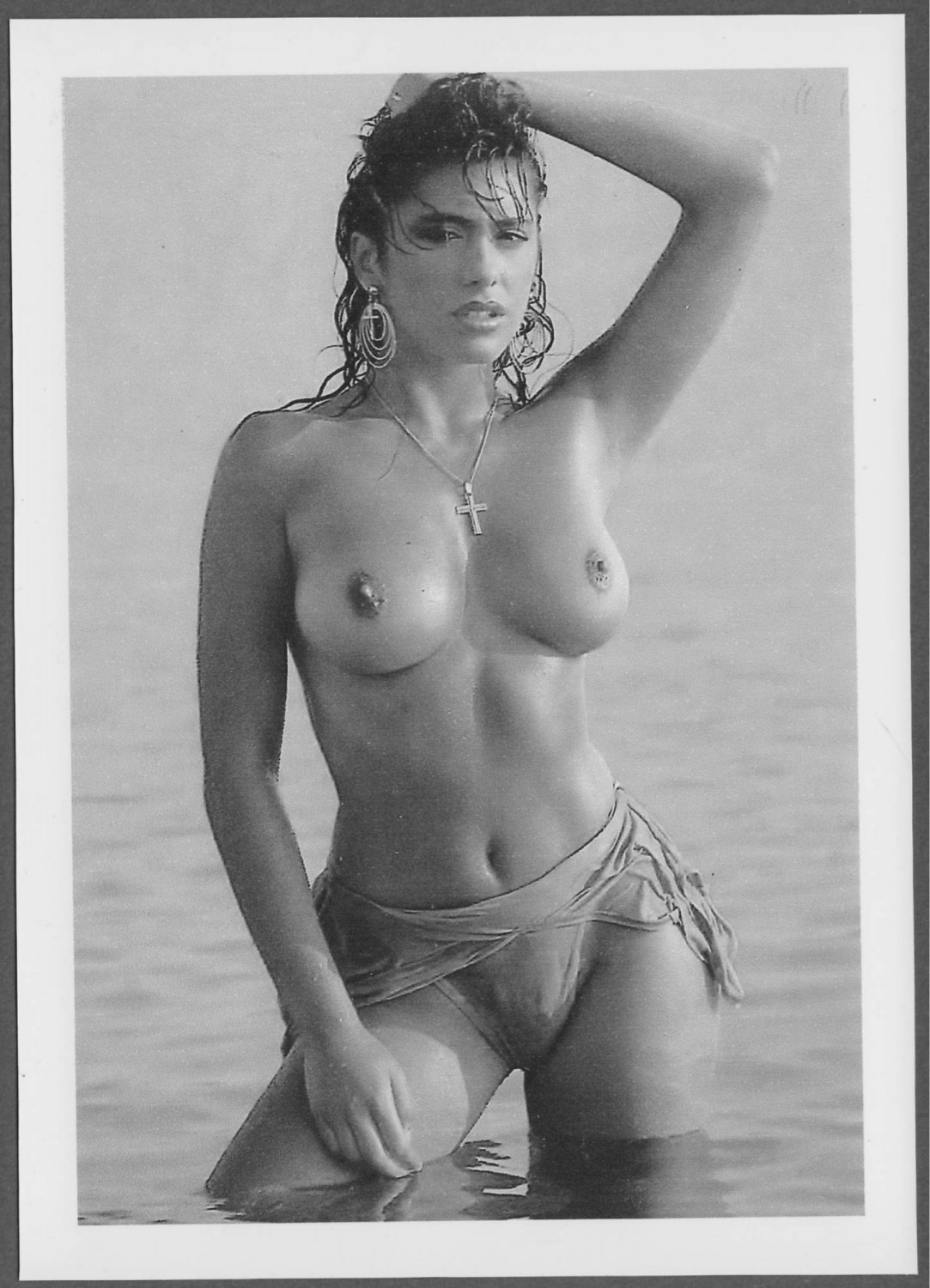 SABRINA SALERNO TOPLESS NUDE BREASTS NEW REPRINT PHOTO 5X7 #1