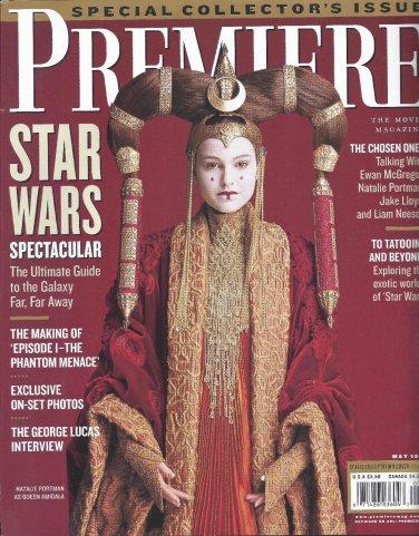 NATALIE PORTMAN STAR WARS GEORGE LUCAS PREMIERE MAGAZINE MAY 1999