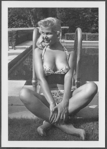 GLORIA PALL BOSOMY DEEP CLEAVAGE BIKINI POSE NEW REPRINT 5X7