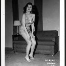 STRIPPER DORIAN DENNIS BUSTY BOSOMY POSE NEW REPRINT 5 X 7 #25