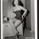 STRIPPER DORIAN DENNIS BOSOMY BLACK BUSTIER POSE NEW REPRINT 5 X 7 #82