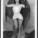 BETTY PAGE TOTALLY NUDE BREASTS HAIRY PUSSY NEW REPRINT 5X7  #629