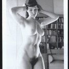 BETTY PAGE TOTALLY NUDE BREASTS HAIRY PUSSY NEW REPRINT 5X7  #597