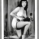 BETTY PAGE TOTALLY NUDE BREASTS NEW REPRINT 5X7  #583