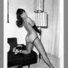 BETTY PAGE TOTALLY NUDE BREASTS REARVU NEW REPRINT 5X7  #571