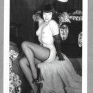 BETTY PAGE TOTALLY NUDE BREASTS NEW REPRINT 5X7  #557