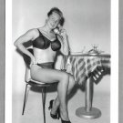VIRGINIA BELL BUSTY IN BLACK BRA PANTIES POSE NEW REPRINT 5 X 7 #28