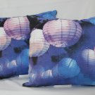 2 Pack: Outdoor Patio Toss Throw Pillows - Lantern Patterned
