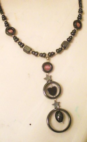 Circles w/heart and star Necklace