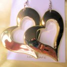 Gold Open Heart Earrings