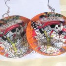 """Love Kills"" Orange Earrings"