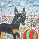 Toy Manchester Terrier Beach Party