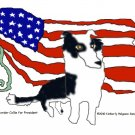 Border Collie for President Dog Art Print