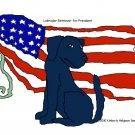 Black Lab for President Dog Art Print