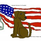 Chocolate Lab for President Dog Art Print