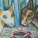 Do Nigerian Dwarf goats Have Coffee Giclee Art Print Mini Dairy Goat