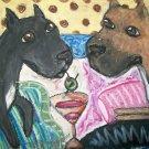 Do Cane Corsi Have Martinis Giclee Print Cane Corso Dog