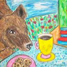 Does a European Brown Bear Have Coffee Giclee Art Print Wildlife