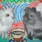 Do Lionheads Have Coffee Lionhead Rabbit Giclee Art Print Limited Edition