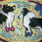Do Shelties Enter Boxing Matches? Shetland Sheepdog Sheltie Giclee Dog Art Print by Stage Dragon