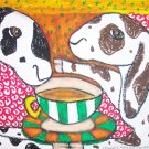 Nubian Drinking Coffee Giclee Print by Stage Dragon