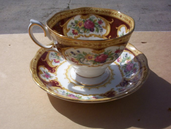 "Royal Albert ""Lady Hamilton"" Cup and Saucer set"