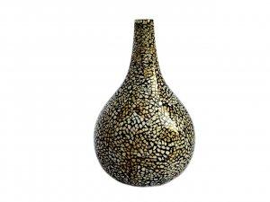 Eggshell inlaid vase